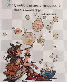 Imagination Is More-Handmade Fridge Magnet-Mary Engelbreit Artwork