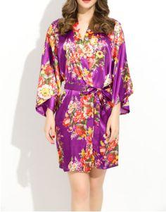 2efcb6be6e 15 Best Floral Satin Robes images