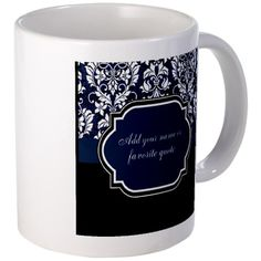 SOLD Customizable Damask Mug $15