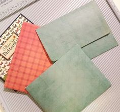 I made an envelope using my Scor-Pal. This envelope will fit an A2 size card (5 1/2