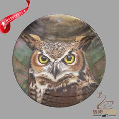 FASHION NECKLACE HAND PAINTED OWL SHELL PENDANT ZP30 01026 #ZL #PENDANT