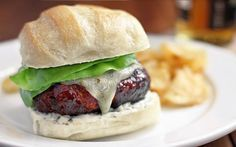 I love the idea of adding chorizo to a burger.  Pork and Chorizo Burgers with Green Chile Mayo