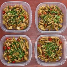 Meal Prep Pesto Chicken Pasta (Under $20)