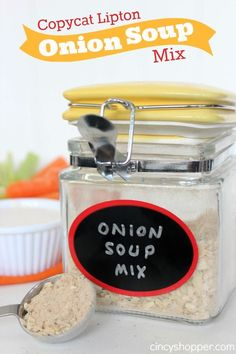 Copycat Lipton Onion Soup Mix Recipe. Perfect for dips and for cooking. Plus this one saves me $$'s.