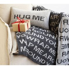 hug me pillow, wrap me throw