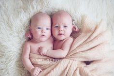 Identical twin girls - 3 months old www.maryanneferry.com