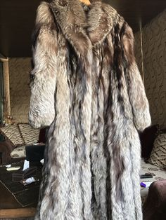 Wow long coat fox fur for sell . Contact me on WhatsApp 009613922222 8000. US dollars