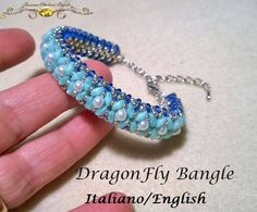 DragonFly Bangle  PDF Beading tutorial in Italian or in