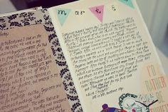 Travel Journal Page, make the flag banner with them label stickers I have~