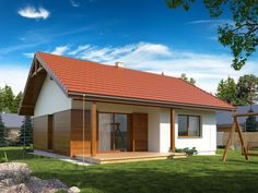 DOM.PL™ - Projekt domu TP GAJA CE - DOM TP1-33 - gotowy koszt budowy Exterior House Colors, Simple House, House Plans, Bali, How To Plan, Outdoor Decor, Home Decor, Stuff Stuff, Future House