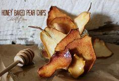 Honey Baked Pear Chips