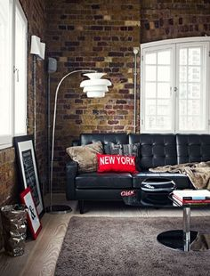 Exposed brick is the ultimate element in any urban apartment/loft