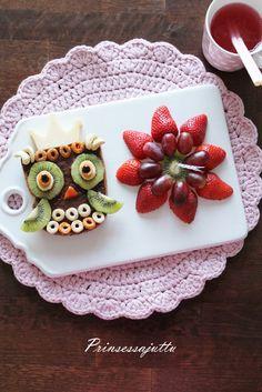 Prinsessajuttu: Prinsessan pöllöleipä (Sano se leivällä) Food Bars, Breakfast, Cake, Desserts, Blog, Morning Coffee, Tailgate Desserts, Deserts, Kuchen
