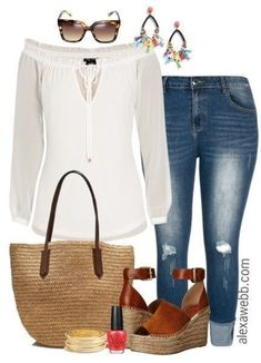Plus Size Casual Spring Outfit - Plus Size Fashion for Women - Plus Size Outfit Ideas - alexawebb.com #alexawebb #plussizefashion, #FashionTrendsShoes