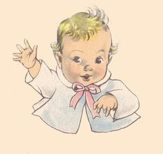 """Our Baby Book,"" a keepsake baby album illustrated by the famous Janet Laura Scott for the Whitman Publishing Co. Vintage Greeting Cards, Vintage Postcards, Vintage Images, Baby Painting, Baby Mine, Baby Images, Baby Album, Retro Illustration, Portraits"