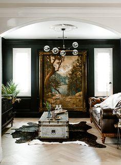 Art Deco Interior Living Room, Art Deco Bedroom, Living Rooms, Bedroom Ideas, Bedroom Artwork, Design Bedroom, Bedroom Bed, Decoration Inspiration, Interior Design Inspiration