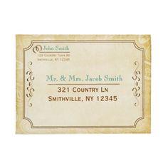 Western Style Invitation Envelope