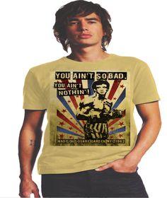 e812015ac79ae Camiseta Rocky You Ain´t Nothing Estupenda camiseta en un tono amarillo muy  suave con