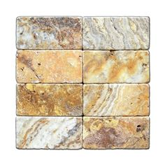 Scabos Travertine Backsplash | featured scabos 3 x 6 travertine tumbled brick tile box of 5 sq ft 5 ...