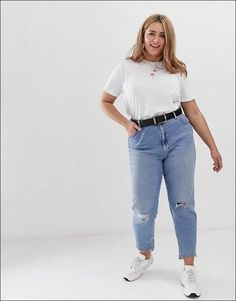 Easy Summer Outfits College Ideas for Plus Size Women Coupon Valid Fat Girl Outfits, Curvy Outfits, Plus Size Outfits, Fashion Outfits, Chubby Fashion, Curvy Girl Fashion, Plus Size Fashion, Casual Chic Outfits, Retro Outfits