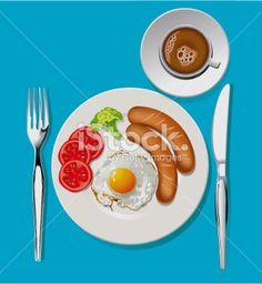 Vector of Breakfast Royalty Free Stock Vector Art Illustration