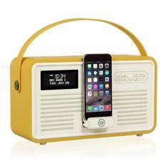 VQ Retro Radio MKII DAB+ & Bluetooth, Mustard