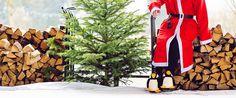 der Weihnachtsmann mit funslippers Pinguin Hausschuhen