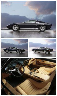 ❦  archaictires: 1968 Lamborghini Miura P400