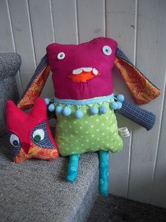 Monster Buddy - great way to use up crafty scraps..