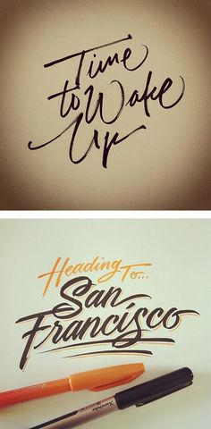 Beautiful Lettering by Matthew Tapia I want my logo to be something like this