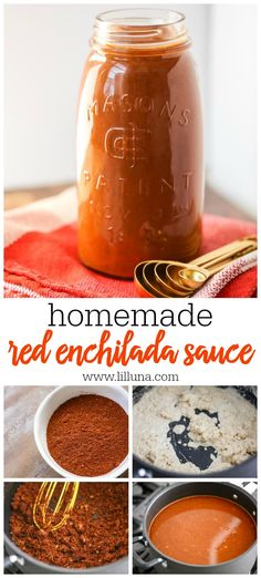 Red Enchilada Sauce Homemade Red Enchilada Sauce - this restaurant-style enchilada sauce is simple and perfect to use for enchiladas, empanadas and even casseroles. You'll never buy canned enchilada sauce again. Sauce Enchilada, Recipes With Enchilada Sauce, Homemade Enchilada Sauce, Homemade Enchiladas, Homemade Sauce, Sauce Recipes, Cooking Recipes, Restaurant Style Enchilada Sauce Recipe, Mexican Chili Sauce Recipe