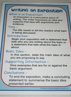 Writing an Exposition Help Sheet - Teacher's Marketplace, the online marketplace for teachers, by teachers, with original educational digital resources, lesson plans, worksheet, printables and more!
