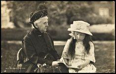 1918, Koningin-moeder Emma met prinses Juliana