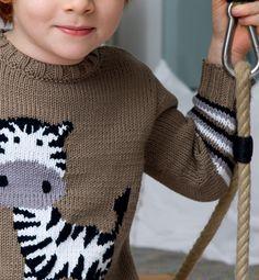 modele tricot zebre