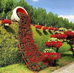 Flower wall - beautiful!