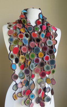 Lollipops linen scarf
