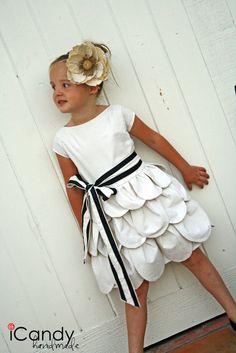 petal dress from bedsheet  to bud