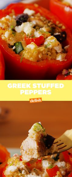 Greek Stuffed Peppers is the summer dinner that won't weigh you down. Get the recipe at Delish.com.