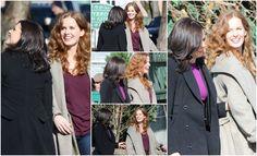 Lana & Rebecca having some fun on set - March 3, 2015
