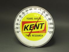 1960s Kent Feeds -- Farmer's Thermometer -- Great collectible on Etsy, $175.00