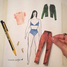 Making a paper doll today...more info coming soon!✂️✏️