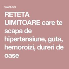 RETETA UIMITOARE care te scapa de hipertensiune, guta, hemoroizi, dureri de oase Good To Know, How To Lose Weight Fast, Remedies, Health Fitness, Food And Drink, Healthy, Pandora, Pharmacy, Therapy