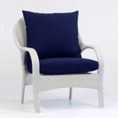 South Sea Outdoor Living Bahia Rustic White Chair Trinidad Sun-n-Shade - Outdoor Chairs, Outdoor Furniture, Outdoor Decor, Rustic White, South Seas, Wingback Chair, Rattan, Wicker, Girl Room