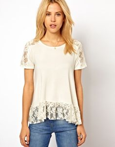 Trapeze Top with Lace Insert
