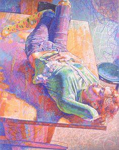 """Asheley"" by John P. Smolko, my high school art teacher. Colored Pencil Society of America."