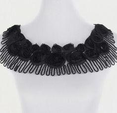 Fashion cotton Lace Collar Fabric Trim ribbon white black DIY Embroidery fringe Neckline Applique Sewing clothes decoration-in Lace from Home & Garden on Aliexpress.com | Alibaba Group