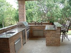 outdoor bar plans | Outdoor Kitchen Features - Granite Countertops - Southlake…
