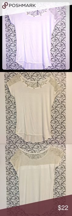 🆕 Heart Hips White Mesh Shoulder Top Medium 🆕 Heart Hips White Mesh Shoulder Top Medium. Brand new without tags.  ✅Offers Welcome w/Offer Button 🚫Trade 🚫PP ✅20%OffBundle ✅Ships1Day. Heart Hips Tops Blouses