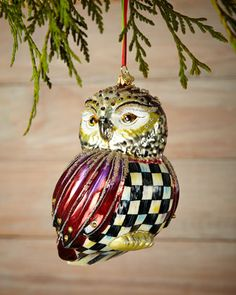 Regal Owl Christmas Ornament by MacKenzie-Childs at Neiman Marcus.