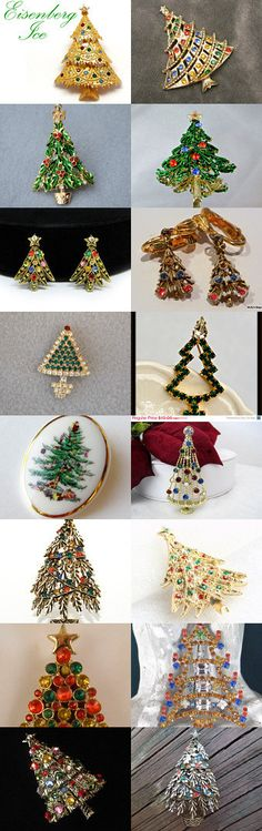 Trim The Tree with Brooches from the VJSE Group Team Treasury by Sharon on Etsy--Pinned with TreasuryPin.com